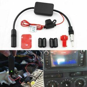 12v Car Truck Stereo Antenna Am Fm Radio Inline Signal Amp Amplifier Booster New