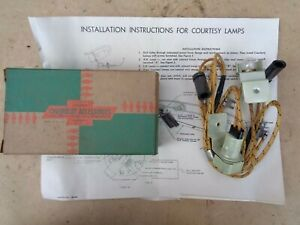 Nos 1953 1954 Chevy Courtesy Lamps Original Chevrolet Accessory Under Dash Pair