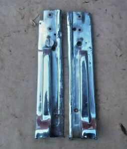 1926 1927 Model T Ford Coupe 2dr Windshield Moldings Original Pair Cut Chrome