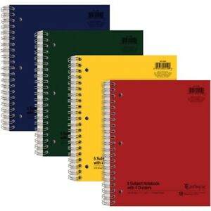 Ampad Oxford College Ruled 5 Subject Notebook Letter