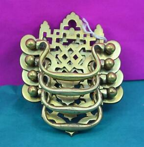 4 Victorian Gothic Brass Handles Desk Chest Of Drawers 3 5 X 3 Complete