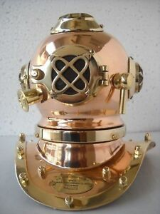 Mark Iv U S Navy Mini Diving Helmet Deep Sea Divers Helmet Copper