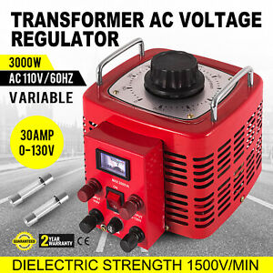 Variac Transformer Variable Ac Voltage Regulator 3000w 60hz 3kva Copper Coil