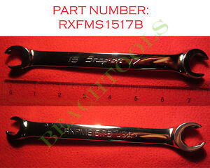 New Snap On 6 Pts Metric Double End Flare Nut Wrench 15mm 17mm Rxfms1517b