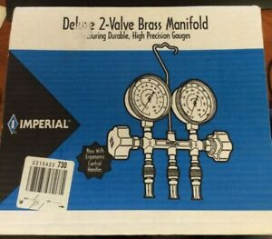 Imperial 496 c Deluxe 2 valve Brass Manifold