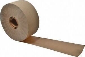 6 Rolls Reinforced Gummed Kraft Paper Tape 70mm X 450 Ft