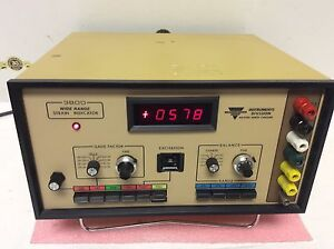 Vishay Measurements Group Instrument Division 3800 Wide Range Strain Indicator