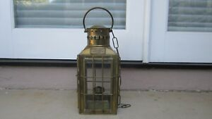 Vintage 1935 Brass Chief Light Ship Lantern Oil Lamp Great Britain No 3509