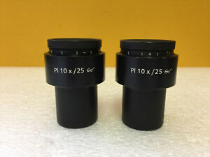 Zeiss 44 40 34 Pl10x 25 set Of 2 Adjustable 30mm Orthoscopic Eyepieces Tested