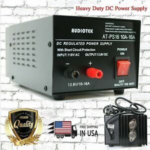 At ps16 13 8v 16a Amp Heavy Duty Dc Regulated Power Supply Grade With Cable New