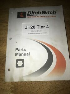 Ditch Witch Jt20 Directional Drill Parts Manual Book Catalog 04pl 06 14 053 2628