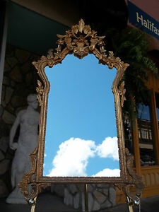 Outstanding Italian Gold Gilded Mirror 20th Century