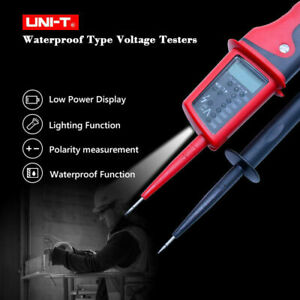 Uni t Ut15c Voltage Tester Led Lcd Display Continuity Pen Meter Tester Low Power