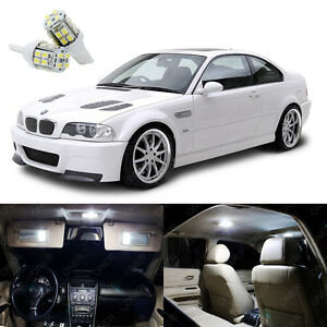 16 X Bright White Led Interior Light Package Kit For Bmw 3 M3 E46 1999 2006