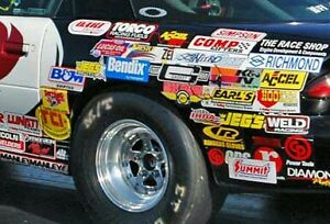 25 Large Racing Decals Stickers Authentic Nascar Nhra Style