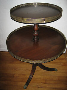 Kittinger 2 Tier Table W Lion S Claw Feet Pattern A464