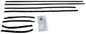 Window Sweeps Felt Kit Weatherstrip For 1967 1968 Mercury Cougar Cyclone Hardtop