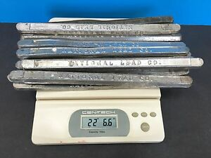 22 LBS VINTAGE TIN  LEAD BARS STAMPED  33CE  RELOADING CASTING SINKERS MELTING  $225.00