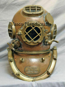 Diving Helmet U S Navy Mark V 18 Antique Deep Sea Scuba Divers Replica Style