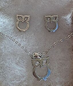 Owl Jewelry Pendant And Earrings Set Gift Ideas Gifts For Her For Kids