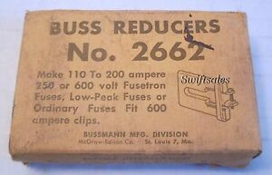 Buss Bussmann 2662 Fuse Reducers 600a To 110 200a 250 600v Rated New Boxed