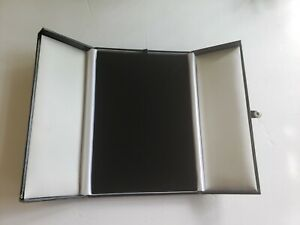 Necklace Display Boxes Black Faux Leather Snap tab Gift Box