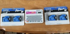 Brother P touch Electronic Label Maker W 4 Extra Tc tape Cartridges Bundle