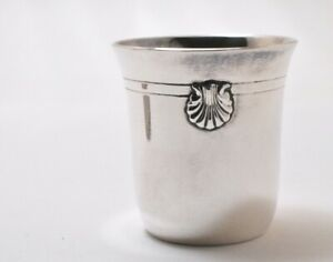 Antique French Paris Tetard Freres Sterling Silver Jigger Shot Glass