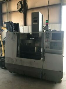 Haas Vf 0 Cnc Vmc With Tool Changer 4th Axis 10 Hp And Cat 40 Tooling 1995
