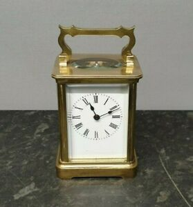 Antique 8 Day English Lever Carriage Clock