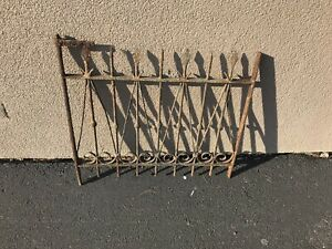 Vintage Wrought Iron Gate Section