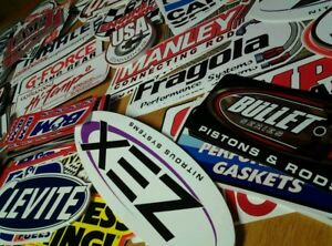 Lot Of 20 Assorted Racing Decals Nascar Drag Race Style Hot Rod Stickers