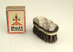 New Old Stock Carl Aubock Workshop Beard Brush Moustache Horn Vienna 50s O5