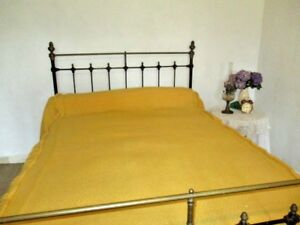 Antique French Bed Cover With Valance Bedspread Large Bright Andsunny