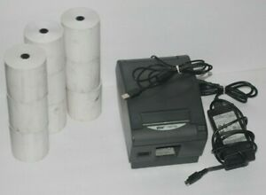 Star Tsp700 Thermal Receipt Pos Point Of Sale Printer W 9 Rolls Of Paper