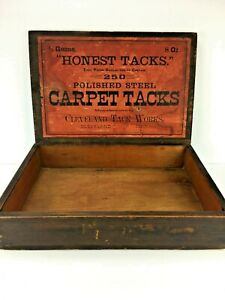 Wow Nice Early Honest Tacks General Store Counter Display Crate Box 160