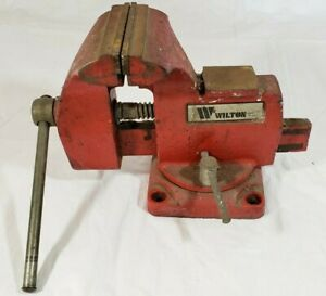 Vintatge Wilton Bench Vise 3 3 4 Jaws 4 With Bench Screws For Work