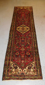 Old Rug Persian Hamedan Lovely Happy Carpet Estate 2 7 X9 2 Ca 1940s Runner