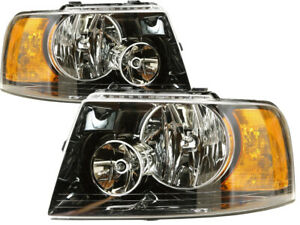 For 2003 2004 2005 2006 Ford Expedition Headlight Headlamp Pair Set Replacement