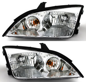 For 2005 2006 2007 Ford Focus Headlight Headlamp Pair Set Replacement