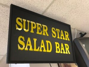 Salad Bar Lighted Sign 36x22 Bistro Cafe Buffet Cafeteria Restaurant Lunch