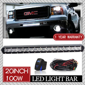 Single Row 20inch Led Light Bar For Offroad Truck Ford Gmc Chevy Atv 4wd 22 23