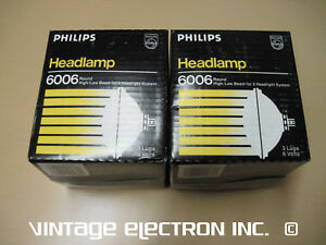 2 Philips 6006 Headlamps 6 Volt 6v 49 95 pr Free Shipping Made In Usa