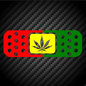 Bandaid Rasta Cannabis Bob Marley Jdm Car Racing Laptop Ipad Vinyl Decal Sticker
