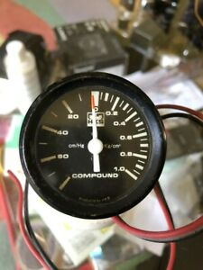 Hks Boost Gauge 80s Compound Meter Rare For S13 S12 Ae86 Rx7 Supra Skyline R30