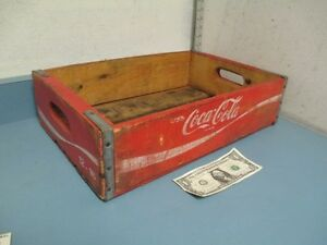 Vintage Coca Cola Wood Crate Box Bottle Carrier