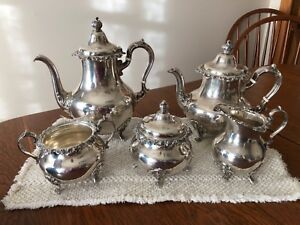 Gorham Strasbourg Sterling Silver Five Piece Coffee And Tea Set