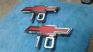 1960 1970 1967 72 Chevy Truck Parts C10 Emblems Badges Trim Original Oem Vintage