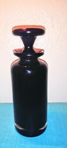 Rare Vintage Purple Apothecary Bottle With Ground Glass Stopper