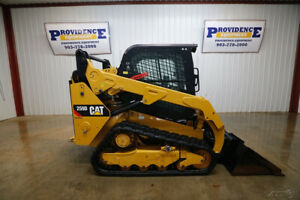 2018 Caterpillar 259d Cab Track Skid Steer Loader Ac heat Snail Float 73 Hp